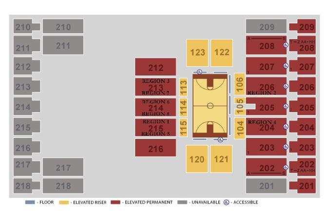 Image result for alerus center basketball seating